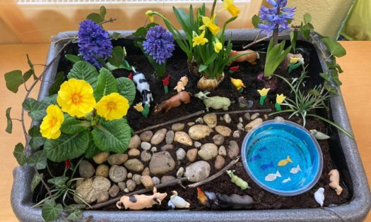 Tavaszi terepasztal